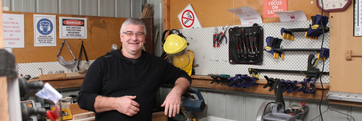 Making the Men's Shed feel like home