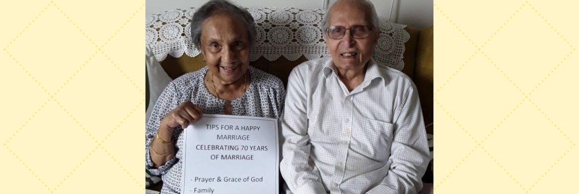Clayton aged care celebrates the love of Vilma and Vernon