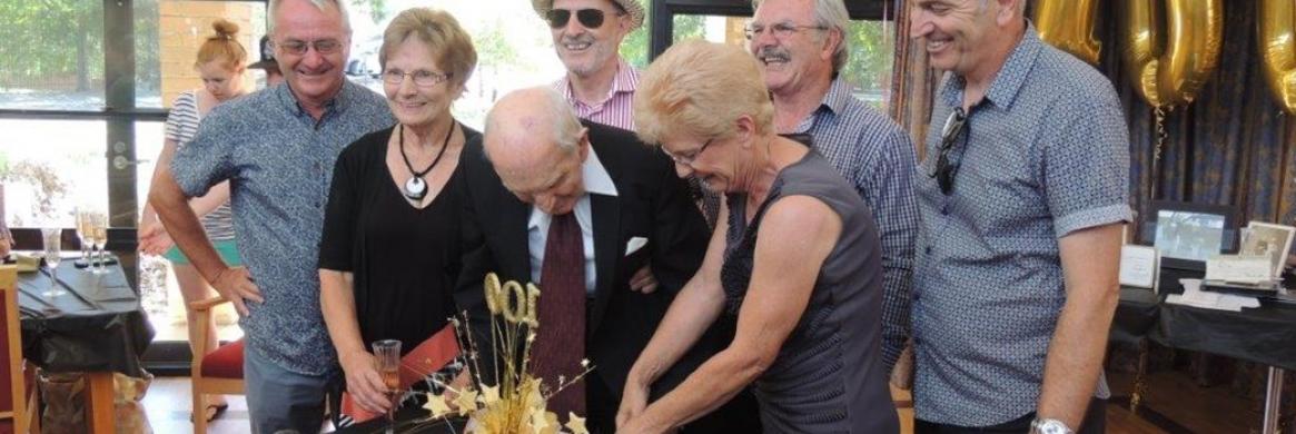 Geoff celebrates a century