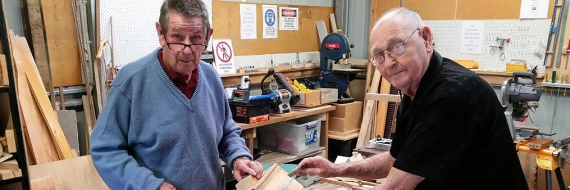 Seniors find mateship at Men's Shed